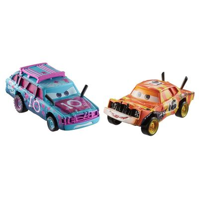 Carrinho-Die-Cast---Pack-com-2-Veiculos---Disney---Pixar---Cars-3---Blind-Spot-e-Pushover---Mattel