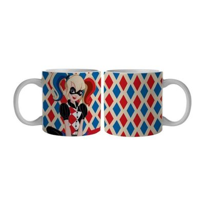 Caneca-de-Porcelana---300-Ml---DC-Comics---Super-Hero-Girls---Harley-Quinn---Urban
