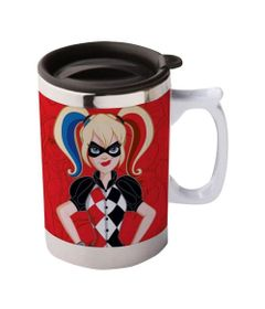 Caneca-Termica---400-Ml---DC-Comics---Super-Hero-Girls---Harley-Quinn---Urban