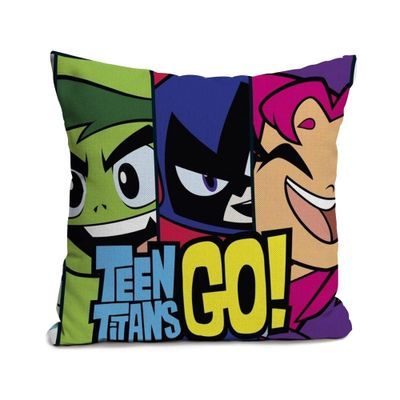Capa-de-Almofada---45x45-Cm---DC-Comics---Teen-Titan-Go----Urban