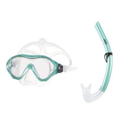 Conjunto-de-Mergulho---Mascara-e-Snorkel---Scuba---Verde---Speedo