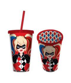 Copo-com-Canudo---500-Ml---DC-Comics---Harley-Quinn---Urban