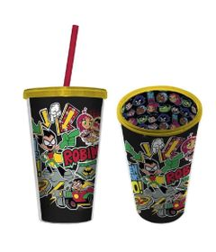 Copo-com-Canudo---500-Ml---DC-Comics---Teen-Titans-Go----Robin---Urban