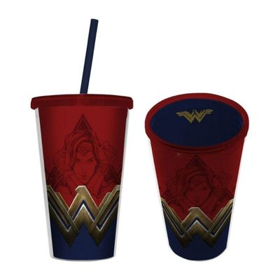 Copo-com-Canudo---500-Ml---DC-Comics---Wonder-Woman---Urban