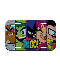 Placa-De-Carro-Decorativa---30Cm---DC-Comics---Teen-Titans-Go----Urban