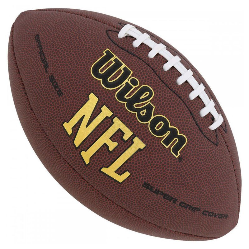 Bola de Futebol Americano - Oficial - Super Grip NFL - Wilson - PBKIDS 78c5560459828