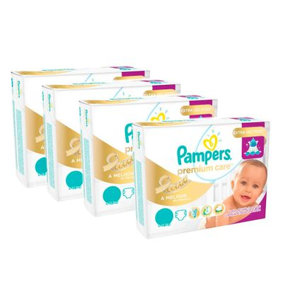 Kit-de-Fraldas-Descartaveis-Premium-Care-Mega---Pampers---G---160