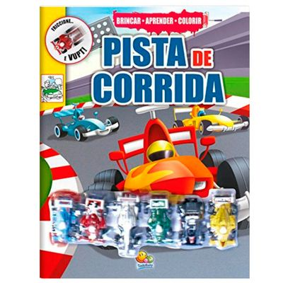 Livro-Infantil---Brincar---Aprender-e-Colorir---Pista-de-Corrida---Todo-Livro
