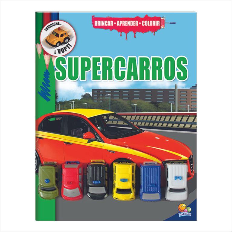 Livro Infantil Brincar Aprender E Colorir Super Carros
