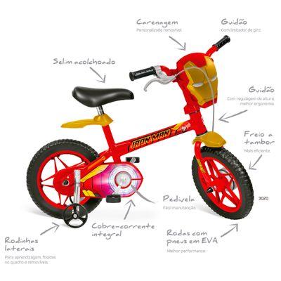 Bicicleta---ARO-12---Disney---Marvel---Avengers---Iron-Man---Bandeirante