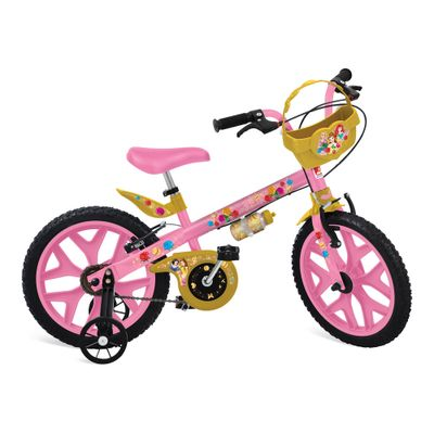 Bicicleta-ARO-16---Disney---Princesas---Bandeirante_Frente