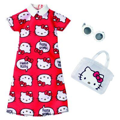 Roupinhas-e-Acessorios---Barbie---Vestido-Bolsa-e-Oculos-Hello-Kitty---Mattel