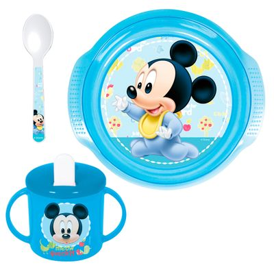 Conjunto-de-Alimentacao---3-Pecas---Disney---Mickey-Mouse---New-Toys