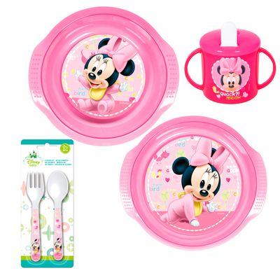Conjunto-de-Alimentacao---5-Pecas---Disney---Minnie-Mouse---New-Toys