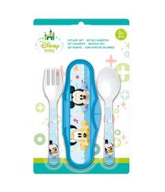 Conjunto-de-Talheres---Estojo-com-Garfo-e-Colher---Disney---Mickey-Mouse---New-Toys