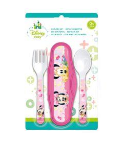 Conjunto-de-Talheres---Estojo-com-Garfo-e-Colher---Disney---Minnie-Mouse---New-Toys