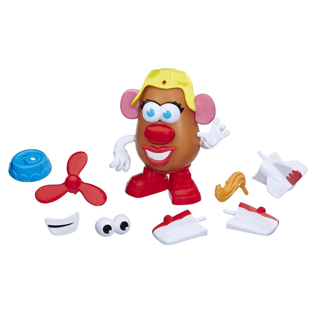 Figura 20 Cm - Mr. Potato Head - Nas Alturas - Mrs. Potato Avião - Hasbro
