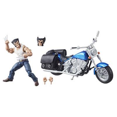 Figura-Articulada-22-Cm-e-Veiculo---Disney---Marvel---Legends---Wolverine---Hasbro