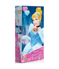 Quebra-Cabeca-Metalizado-Princesas-Disney---Cinderela---200-Pecas_Frente