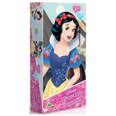 Quebra-Cabeca-Metalizado-Princesas-Disney---Branca-de-Neve---200-Pecas_Frente