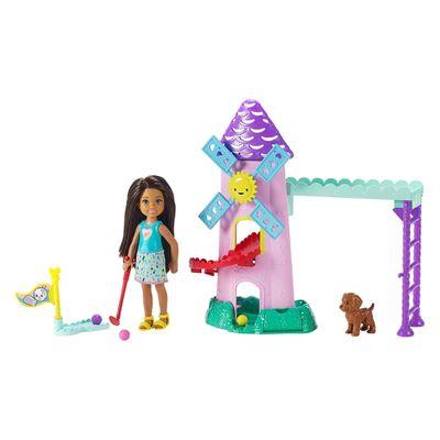 Boneca-Barbie---Conjuntos-da-Chelsea---Campo-de-Golf---Mattel
