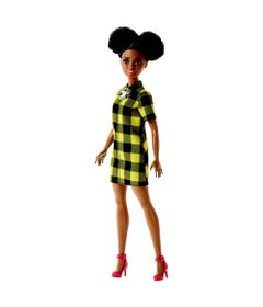 Boneca-Barbie-Fashionista---Vestido-Xadrez---Mattel
