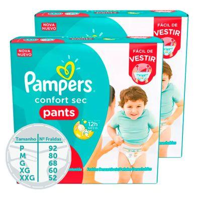 Kit de Fraldas Descartáveis - Confort Sec - Pants - Pampers - M - 80