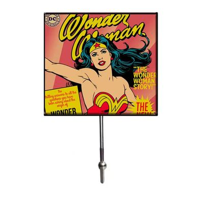 Cabideiro-de-Vidro-com-1-Gancho---DC-Comics---Mulher-Maravilha---13x21x75cm---Rosa---Metropole