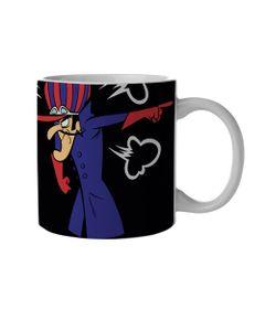 Caneca-de-Porcelana---300-Ml---Hanna-Barbera---Corrida-Maluca---Dick-e-Mutley---Metropole