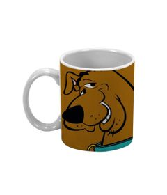 Caneca-de-Porcelana---300-Ml---Hanna-Barbera---Scooby-Doo---Marrom---Metropole