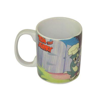 Caneca-de-Porcelana---300-Ml---Hanna-Barbera---Tom-e-Jerry---Festa-do-Churrasco---Metropole