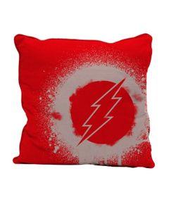 Capa-para-Almofada---DC-Comics---Flash---Logo-Grafite---Vermelho---45x45---Metropole