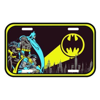 Placa-de-Parede-Metal---DC-Comics---Batman-Sinal-de-Alerta---15x30cm---Preto---Metropole