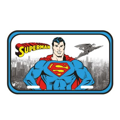 Placa-de-Parede-Metal---DC-Comics---Super-Homem---15x30cm---Metropole