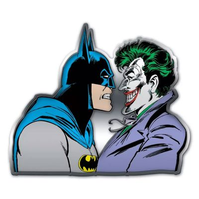 Placa-de-Parede-Metal-Recortada---DC-Comics---Batman-e-Coringa---Metropole