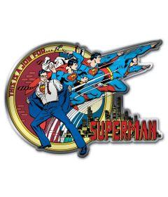 Placa-de-Parede-Metal-Recortada---DC-Comics---Super-Homem-Transformando---Metropole