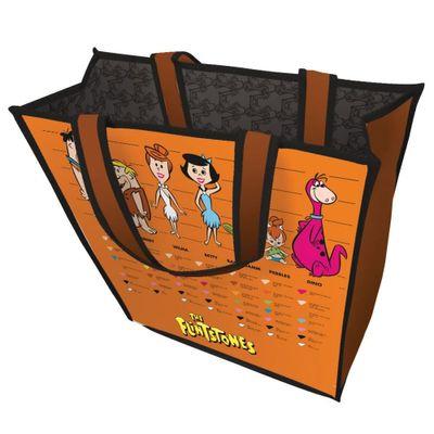 Sacola-Polipropileno---Hanna-Barbera---Familia-dos-Flintstones---40x40x15cm---Laranja---Metropole