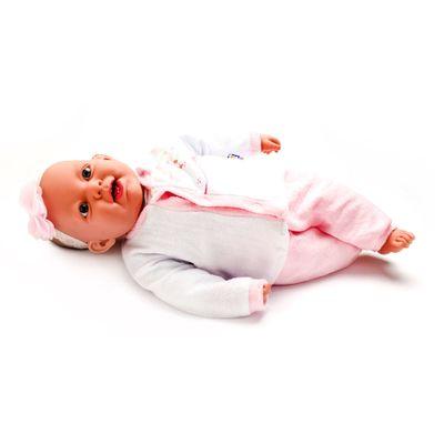 Boneca-Bebe-Sorrindo---Colecao-Ninos---Macacao-Rosa---Cotiplas_Frente