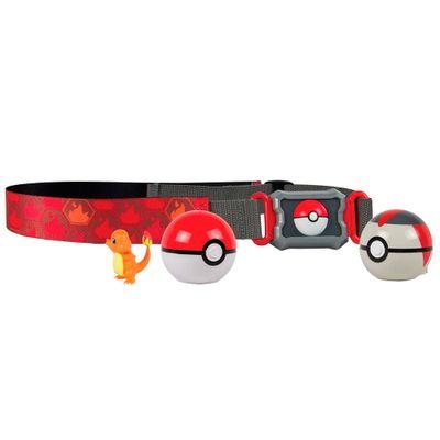 Conjunto-de-Acao---Pokemon---Cinto-Porta-Pokebolas---Charmander---Sunny