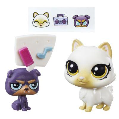 Mini-Bonecas-Littlest-Pet-Shop---Mioko-Celadon---Gruff-Pugstone---Hasbro