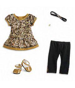 Acessorios-de-Boneca---American-Girl---Truly-Me---Vestido-Dourado---Mattel