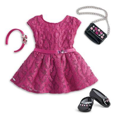 Acessorios-de-Boneca---American-Girl---Truly-Me---Vestido-Magenta---Mattel
