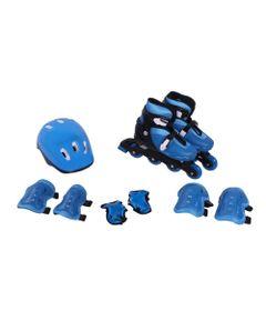 Patins-Ajustaveis-e-Kit-de-Seguranca---29-a-32---P---Azul