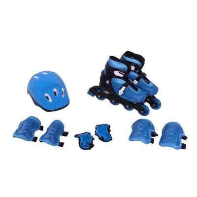 Oferta Patins Ajustáveis e Kit de Segurança - 29 a 32- Bel Fix  - Azul - P por R$ 469.99