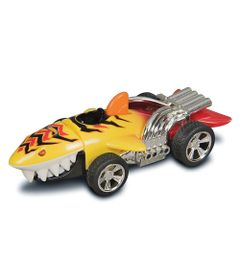 Carrinho-com-Luzes-e-Sons---Hot-Wheels---Road-Rippers---Fighter---Amarelo---DTC