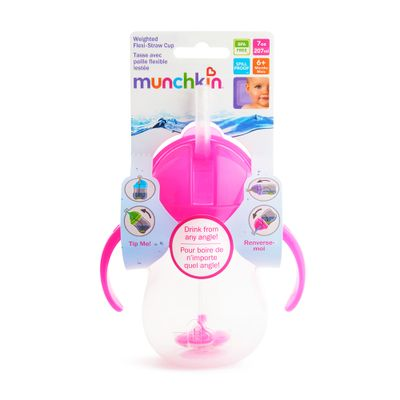 Copo-Treinamento-com-Canudo-Click-Lock---207-ml---Rosa---Munchkin