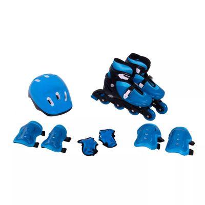 Oferta Patins Ajustáveis e Kit de Segurança - 33 a 36 - Bel Fix - M por R$ 389.99