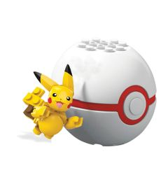 Blocos-de-Montar---Mega-Construx---Pokemon---Pokebola-e-Figura---Pikachu---Mattel