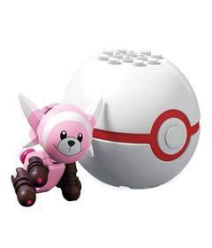 Blocos-de-Montar---Mega-Construx---Pokemon---Pokebola-e-Figura---Stufful---Mattel