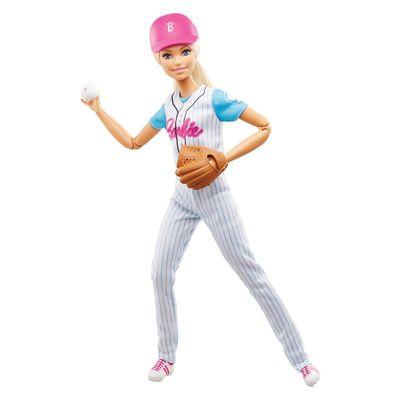 Boneca-Barbie---Feita-para-Mexer---Esportista---Jogadora-de-Baseball---Mattel
